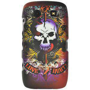 Rubberized Slim Hard Case for BlackBerry Torch 9850 - Love Hurts/Skull & Dagger - fommystore