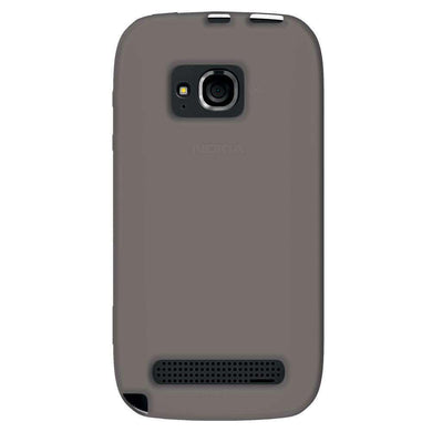 AMZER Silicone Skin Jelly Case for Nokia Lumia 710 - Grey - fommystore