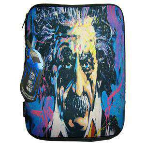 LuxMobile® Einstein Zippered Neoprene Sleeve by David Garibaldi for iPad 2/3/4