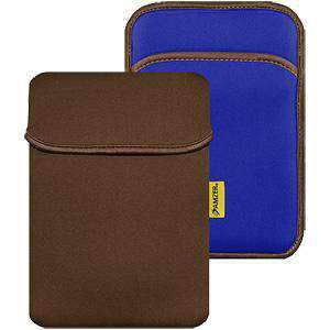 Amzer® 8 inch Reversible Neoprene Vertical Sleeve with Pocket - Chocolate Brown/ Teal Blue - fommystore
