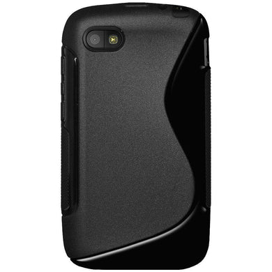 AMZER Soft TPU Hybrid Case for BlackBerry Q5 - Black - fommystore