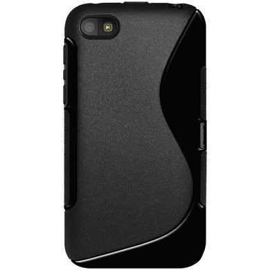 AMZER Soft TPU Hybrid Case for BlackBerry Z5 - Solid Black - fommystore