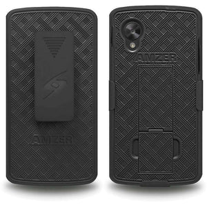 AMZER Shellster Hard Case with Belt Clip Holster for Google Nexus 5