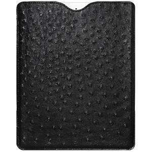 Faux Ostrich Sleeve Pouch - Black - fommystore