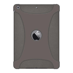 AMZER Shockproof Rugged Silicone Skin Jelly Case for iPad Air - Grey - fommystore
