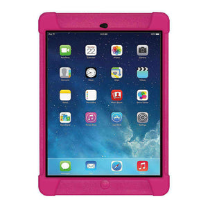 AMZER Shockproof Rugged Silicone Skin Jelly Case for iPad Air - Hot Pink - fommystore