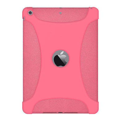 AMZER Shockproof Rugged Silicone Skin Jelly Case for iPad Air - Baby Pink - fommystore