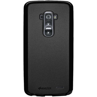 AMZER Pudding Soft TPU Skin Case for LG G Flex D958 - Black - fommystore