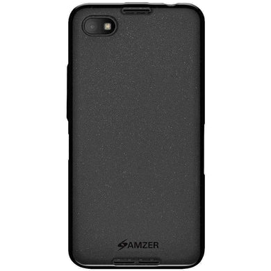 AMZER Pudding TPU Soft Skin Case for BlackBerry Z30 - Black - fommystore