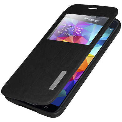 AMZER Flip Case With Swipe Window for Samsung Galaxy S5 Neo SM-G903F - fommystore