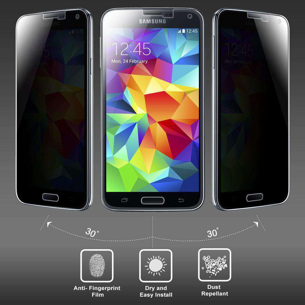 AMZER Kristal Privacy Tempered Glass HD Screen Protector for Samsung Galaxy S5 Neo - fommystore