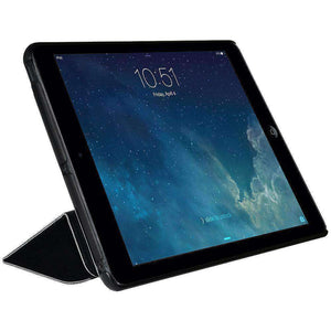 AMZER Shell Portfolio Case Leather Texture for Apple iPad mini - Black - fommystore