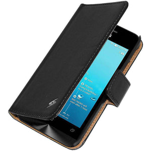 AMZER Flip Leather Case for ASUS Zenfone 4 A400CG - Black