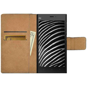 AMZER Flip Leather Case for Xiaomi Mi 3 - Black - fommystore