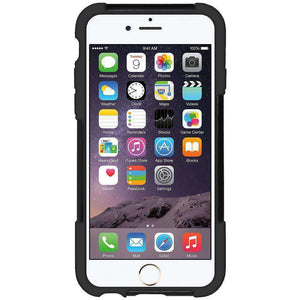 AMZER Double Layer Hybrid Kickstand Case for iPhone 6 Plus - Black/ Black - fommystore