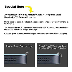 AMZER Kristal Privacy HD Edge2Edge Tempered Glass for iPhone 6 Plus - Black - fommystore