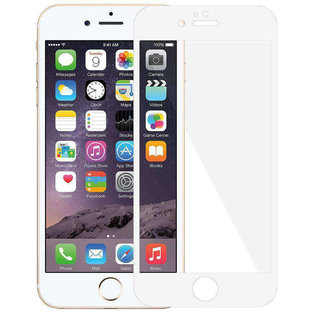 AMZER Kristal Edge2Edge Screen Protector for iPhone 6 Plus - White - fommystore