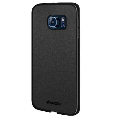 AMZER Pudding Soft TPU Skin Case for Samsung Galaxy S6 edge SM-G925F - Black - fommystore