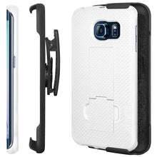 Load image into Gallery viewer, AMZER Shellster Hard Case Belt Clip Holster for Samsung Galaxy S6 edge - fommystore