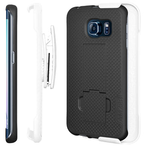 AMZER Shellster Hard Case Belt Clip Holster for Samsung Galaxy S6 edge - fommystore