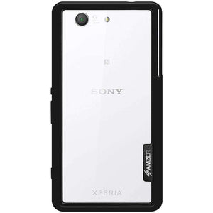 AMZER Border Bumper Hybrid Case for Sony Xperia Z3 Compact - Black