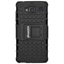 Load image into Gallery viewer, AMZER Shockproof Warrior Hybrid Case for Xiaomi Redmi 2 - Black/Black - fommystore