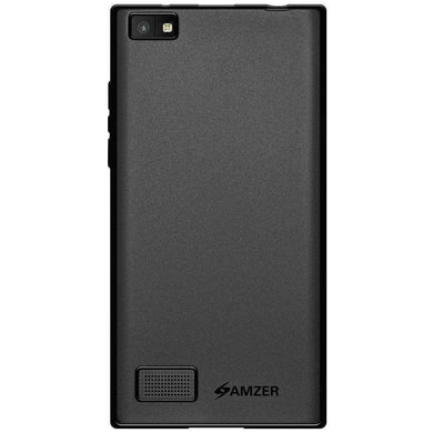 AMZER Pudding TPU Soft Skin Case for BlackBerry Leap - Black - fommystore