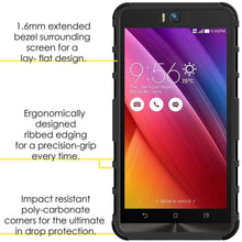 Load image into Gallery viewer, AMZER Warrior Hybrid Case for Asus Zenfone Selfie ZD551KL - Black/Black - fommystore