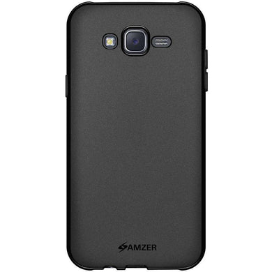 AMZER Pudding Soft TPU Skin Case for Samsung Galaxy J7 SM-J700F - Black - fommystore
