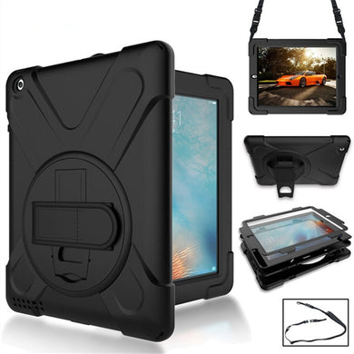 AMZER Dual Layer TUFFEN Shockproof Hybrid Cover for iPad Air - Black - fommystore