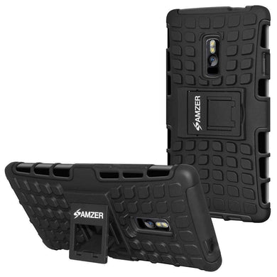 AMZER Shockproof Warrior Hybrid Case for OnePlus 2 - Black/Black - fommystore