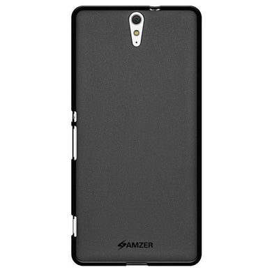 AMZER Pudding Soft TPU Skin Case for Sony Xperia C5 Ultra - Black - fommystore