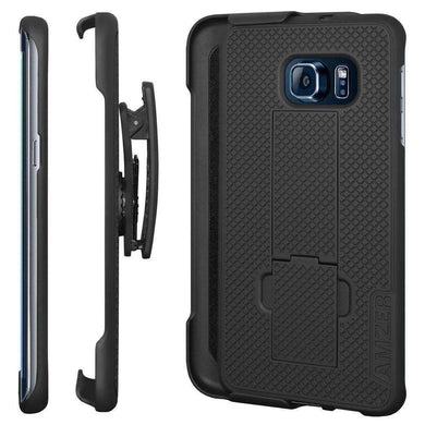 AMZER Shellster Hard Case Clip Holster for Samsung Galaxy S6 edge Plus - fommystore