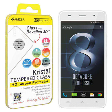 AMZER Kristal Tempered Glass HD Screen Protector for Lava Iris X8 - fommystore