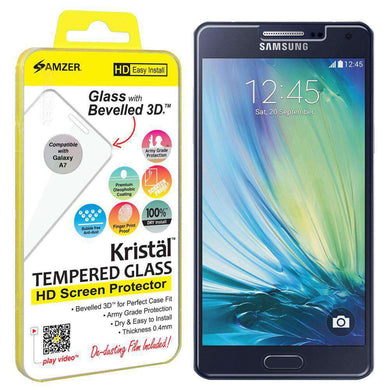 AMZER Kristal Tempered Glass HD Screen Protector for Samsung GALAXY A7 Duos - fommystore