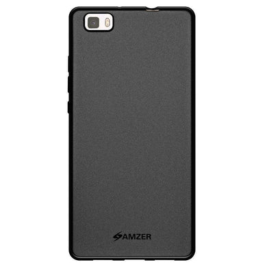 AMZER Pudding Soft TPU Skin Case for Huawei P8 Lite - Black - fommystore