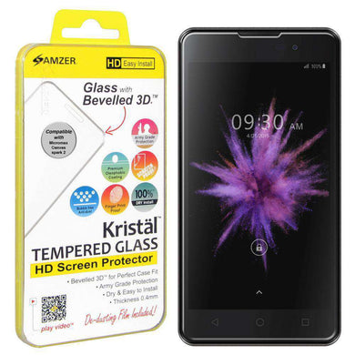 AMZER Kristal Tempered Glass HD Screen Protector for Micromax Canvas Spark 2 - fommystore