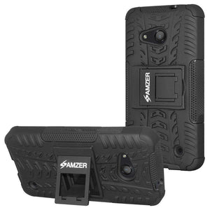 AMZER Shockproof Warrior Hybrid Case for Microsoft Lumia 550 - Black/Black