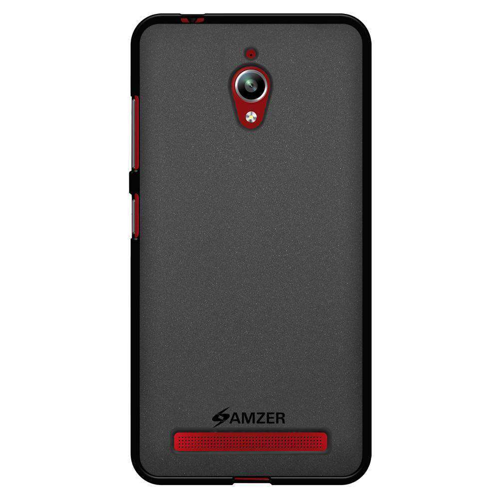 AMZER Pudding Soft TPU Skin Case for Asus Zenfone Go ZC500TG - Black - fommystore