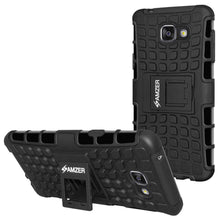 Load image into Gallery viewer, AMZER Hybrid Warrior Kickstand Case for Samsung GALAXY A3 2016 - Black/Black - fommystore