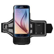 Load image into Gallery viewer, AMZER Jogging Gym Armband Workout Snap On Shellster Case For Samsung Galaxy S6 - Black - fommystore