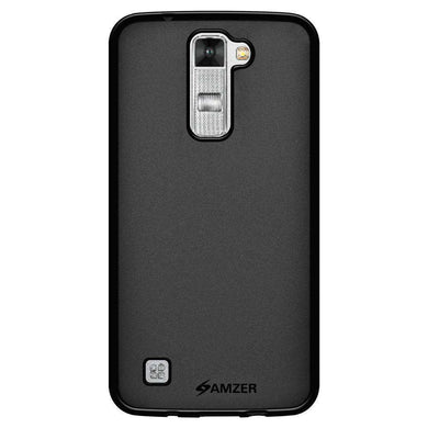 AMZER Pudding Soft TPU Skin Case for LG K7 - Black - fommystore