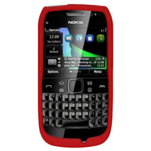 Load image into Gallery viewer, AMZER Silicone Skin Jelly Case for Nokia E6-00 - Red - fommystore