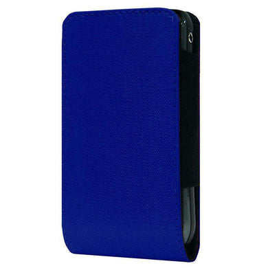 SmartPhone Slide In Neoprene Case With Belt Clip - Navy Blue for BlackBerry 7100g - fommystore
