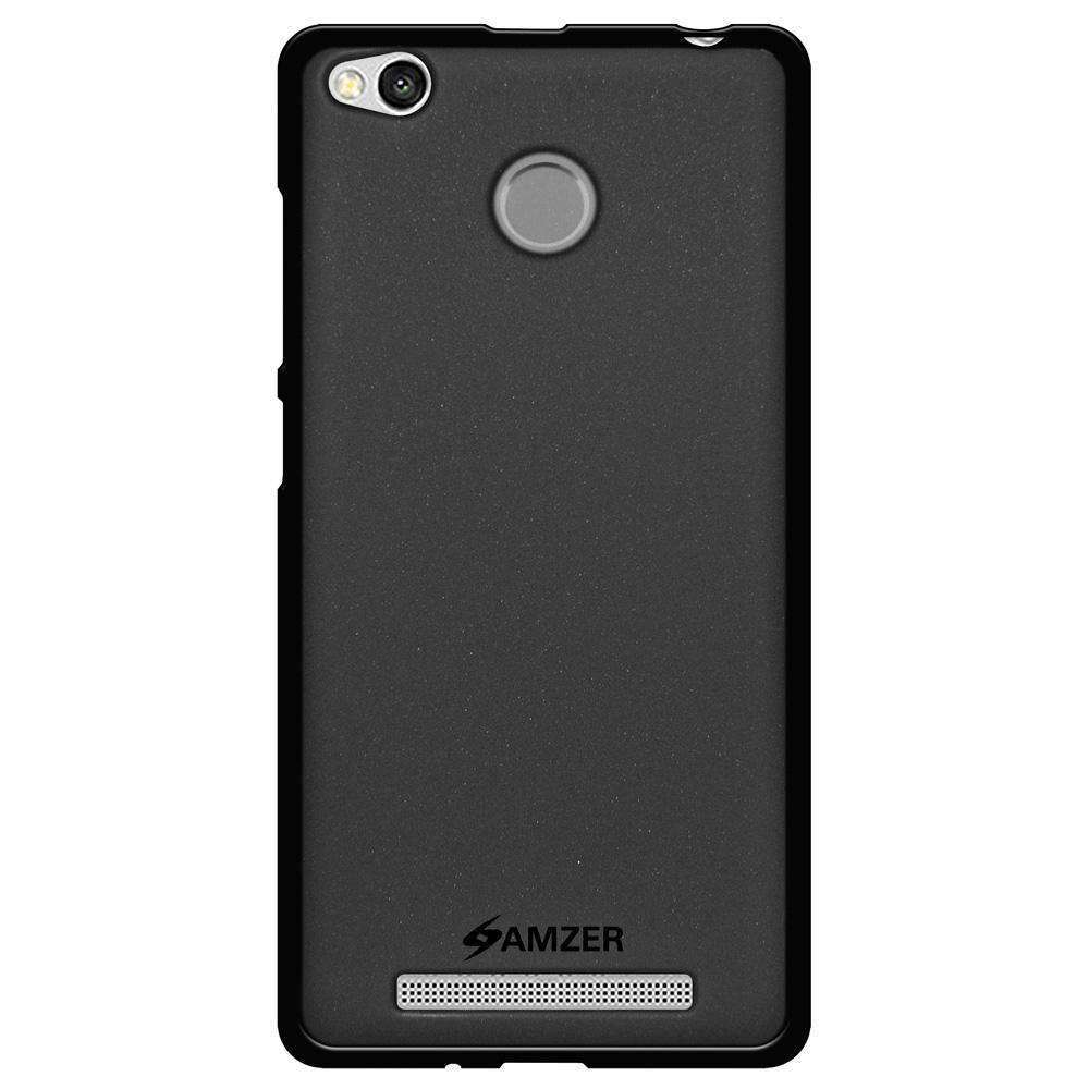 AMZER Pudding Soft TPU Skin Case for Xiaomi Redmi 3 - Black - fommystore