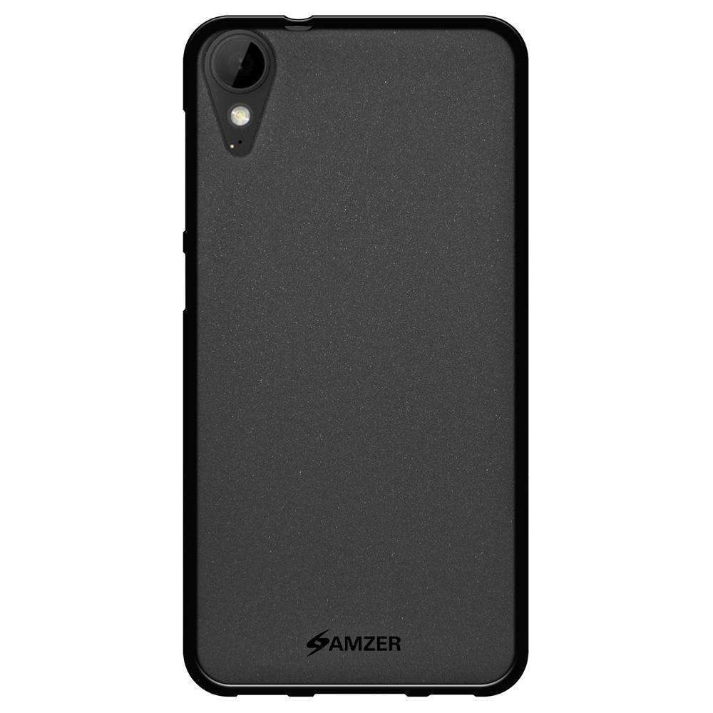 AMZER Pudding Soft TPU Skin Case for HTC Desire 10 Lifestyle - Black - fommystore