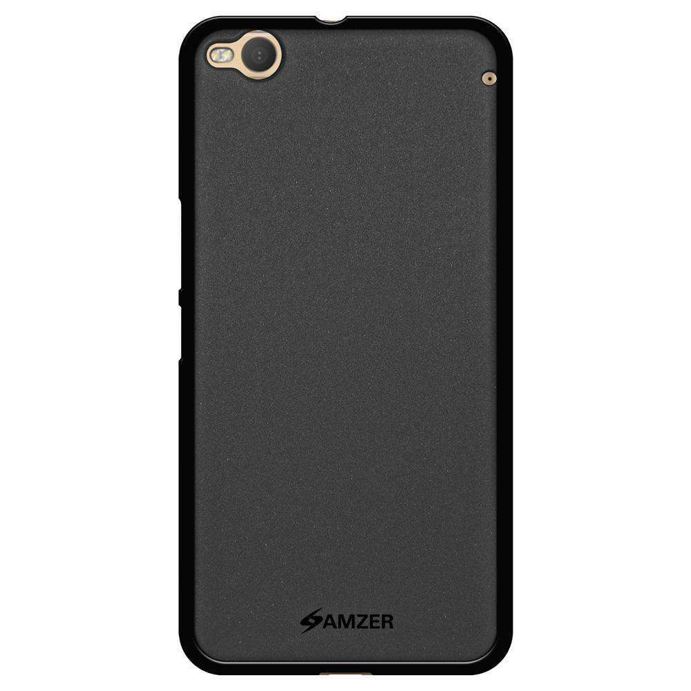 AMZER Pudding Soft TPU Skin Case for HTC One X9 - Black - fommystore