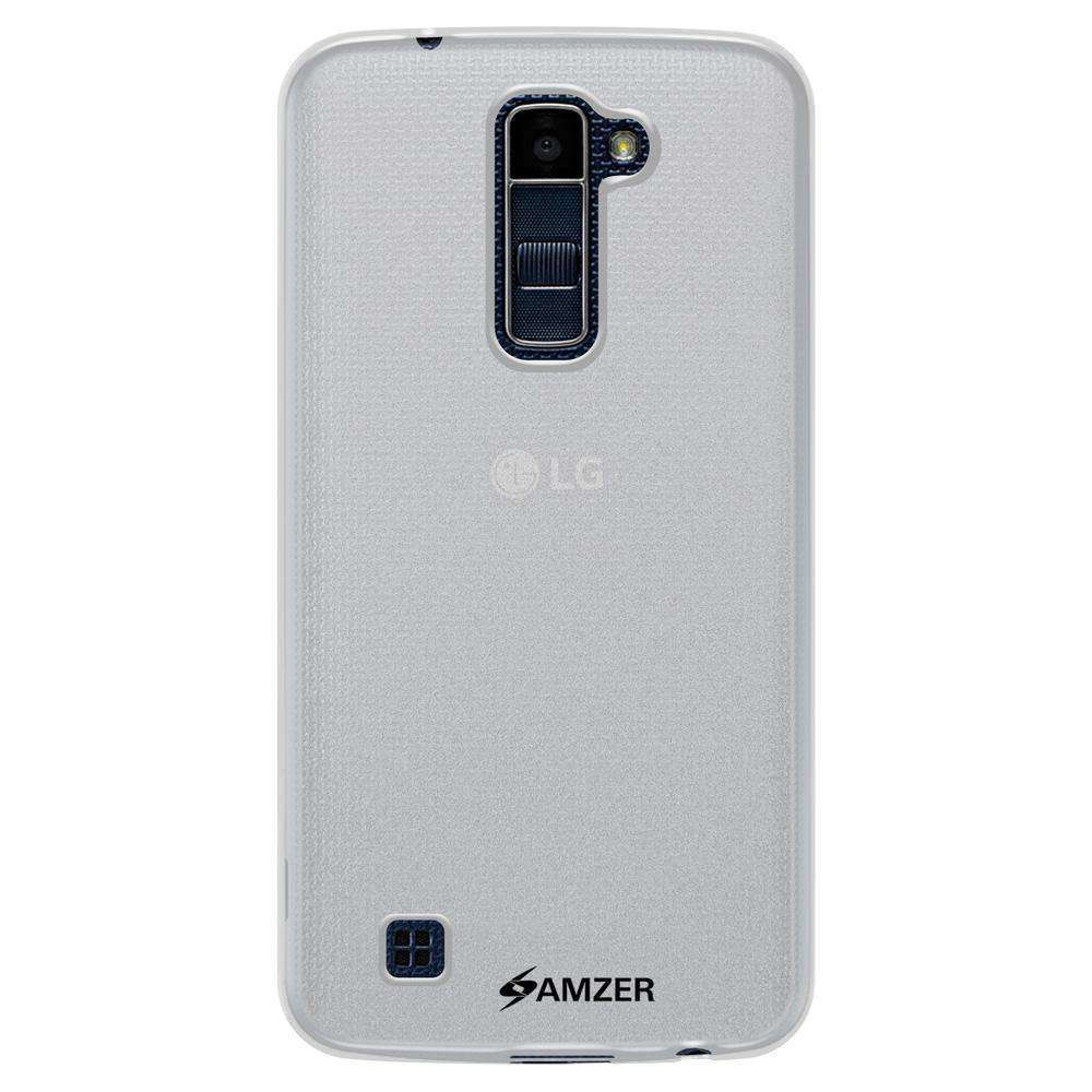 AMZER Pudding Soft TPU Skin Case for LG K10 - Cloudy Clear - fommystore