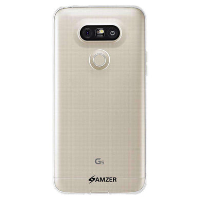 AMZER Pudding Soft TPU Skin Case for LG G5 - Clear - fommystore