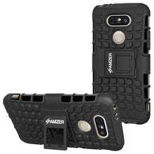 Load image into Gallery viewer, AMZER Hybrid Warrior Kickstand Case for LG G5 - Black/Black - fommystore